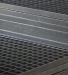 Drukrooster platen MW 30/30, gelast, zwart/ruw